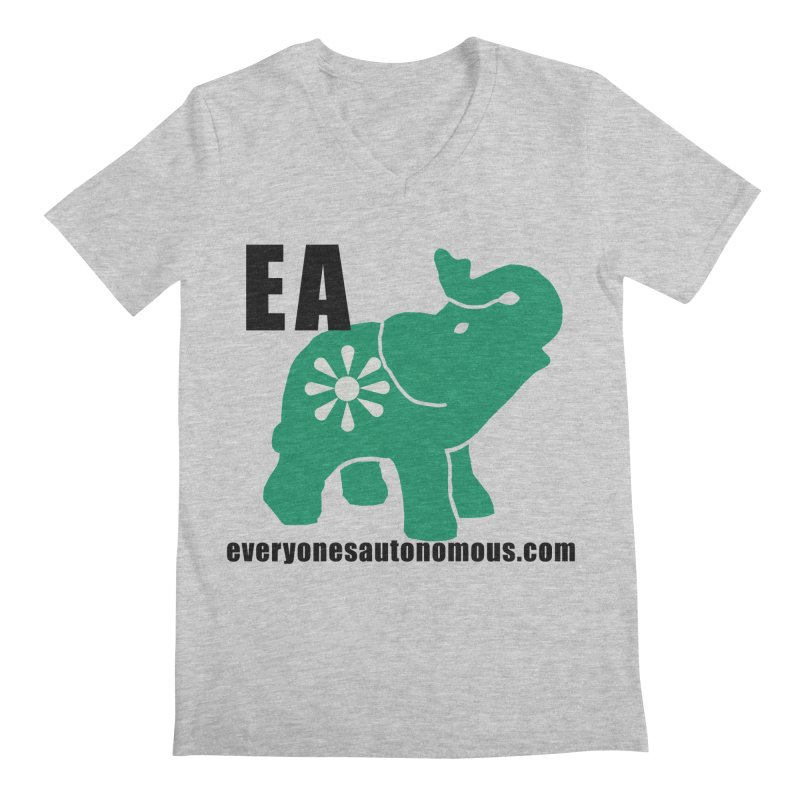Elephant EA www Men's Regular V-Neck by everyonesautonomous's Artist Shop