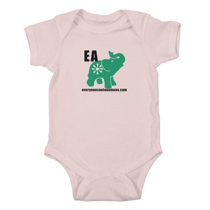 Elephant EA www Kids Baby Bodysuit by everyonesautonomous's Artist Shop