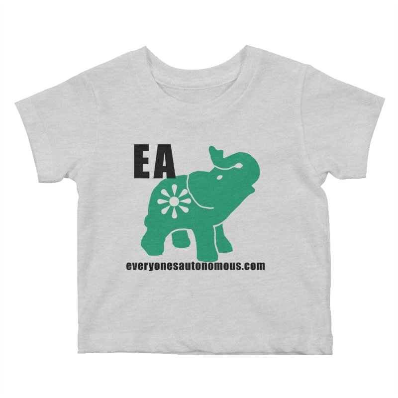 Elephant EA www Kids Baby T-Shirt by everyonesautonomous's Artist Shop