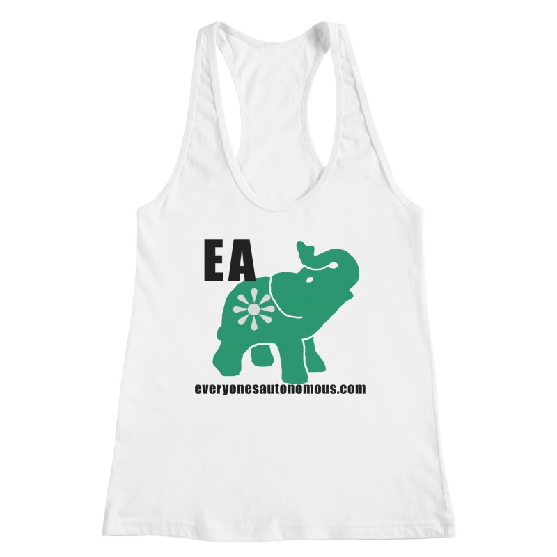 Elephant EA www Women's Racerback Tank by everyonesautonomous's Artist Shop