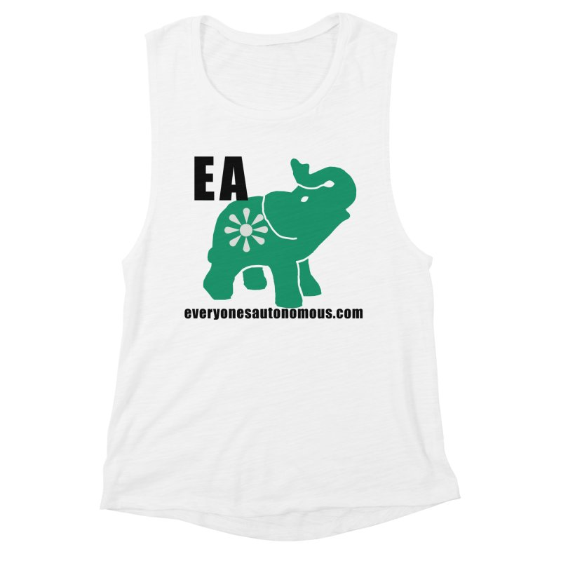Elephant EA www Women's Muscle Tank by everyonesautonomous's Artist Shop