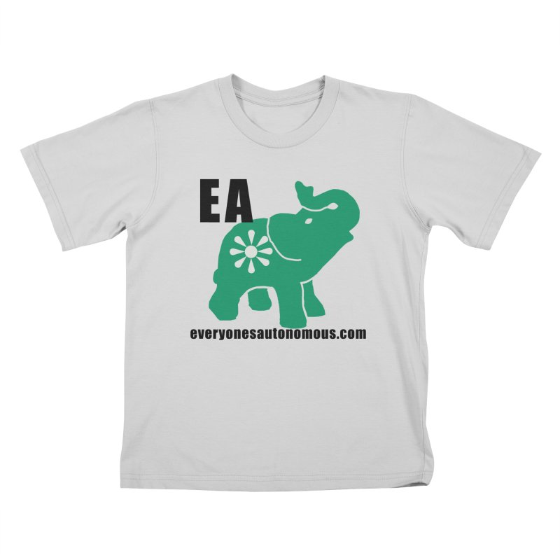 Elephant EA www Kids T-Shirt by everyonesautonomous's Artist Shop
