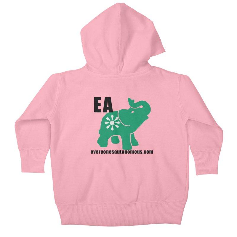 Elephant EA www Kids Baby Zip-Up Hoody by Everyone's Autonomous' Artist Shop