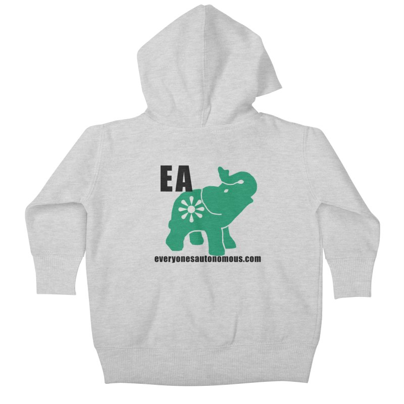 Elephant EA www Kids Baby Zip-Up Hoody by everyonesautonomous's Artist Shop