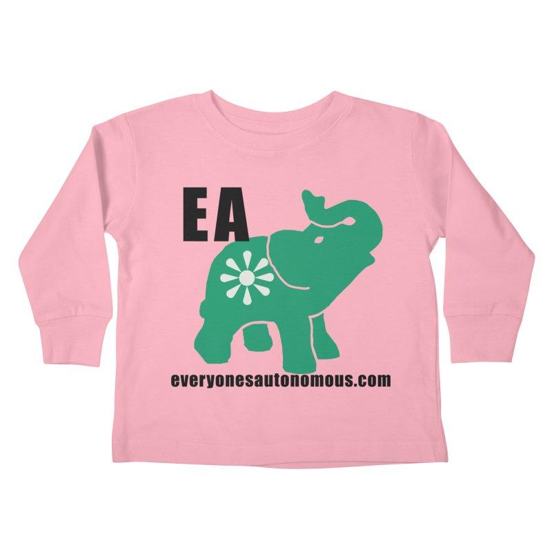 Elephant EA www Kids Toddler Longsleeve T-Shirt by everyonesautonomous's Artist Shop