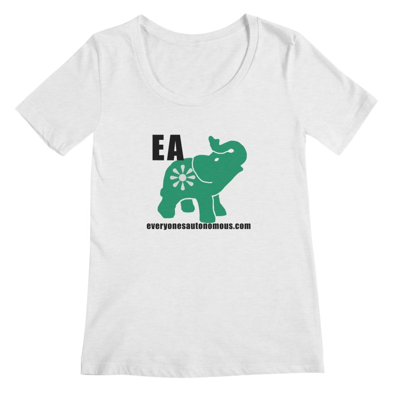 Elephant EA www Women's Regular Scoop Neck by everyonesautonomous's Artist Shop