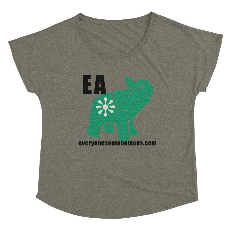 Elephant EA www Women's Dolman Scoop Neck by everyonesautonomous's Artist Shop