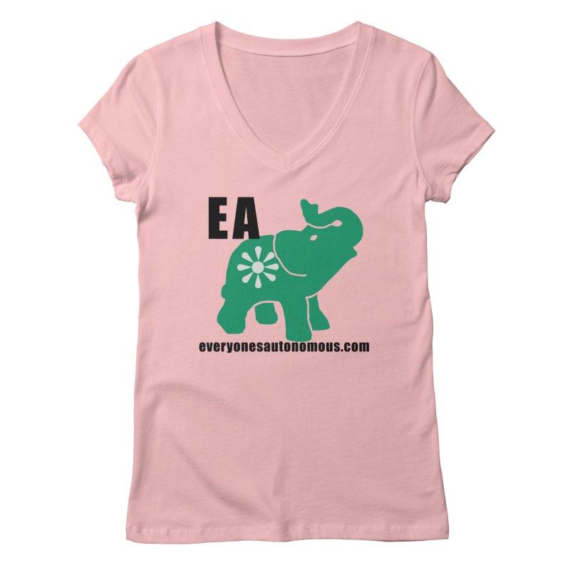 Elephant EA www Women's Regular V-Neck by everyonesautonomous's Artist Shop