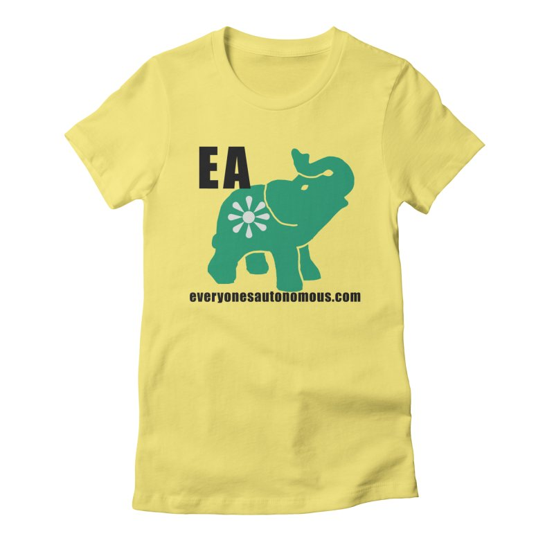 Elephant EA www Women's Fitted T-Shirt by everyonesautonomous's Artist Shop
