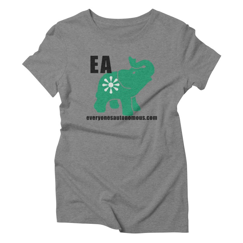 Elephant EA www Women's Triblend T-Shirt by everyonesautonomous's Artist Shop