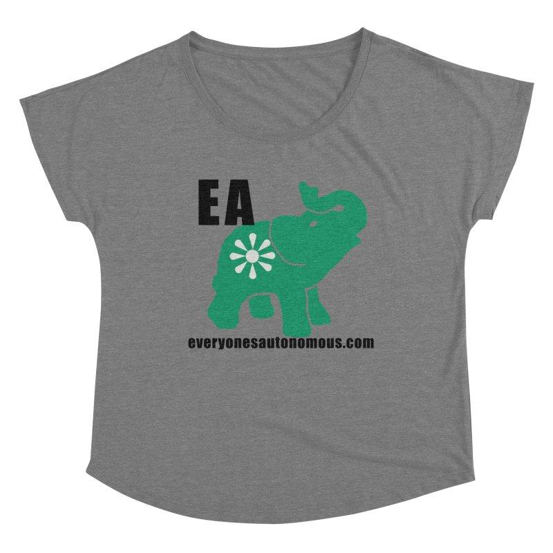 Elephant EA www Women's Scoop Neck by Everyone's Autonomous' Artist Shop