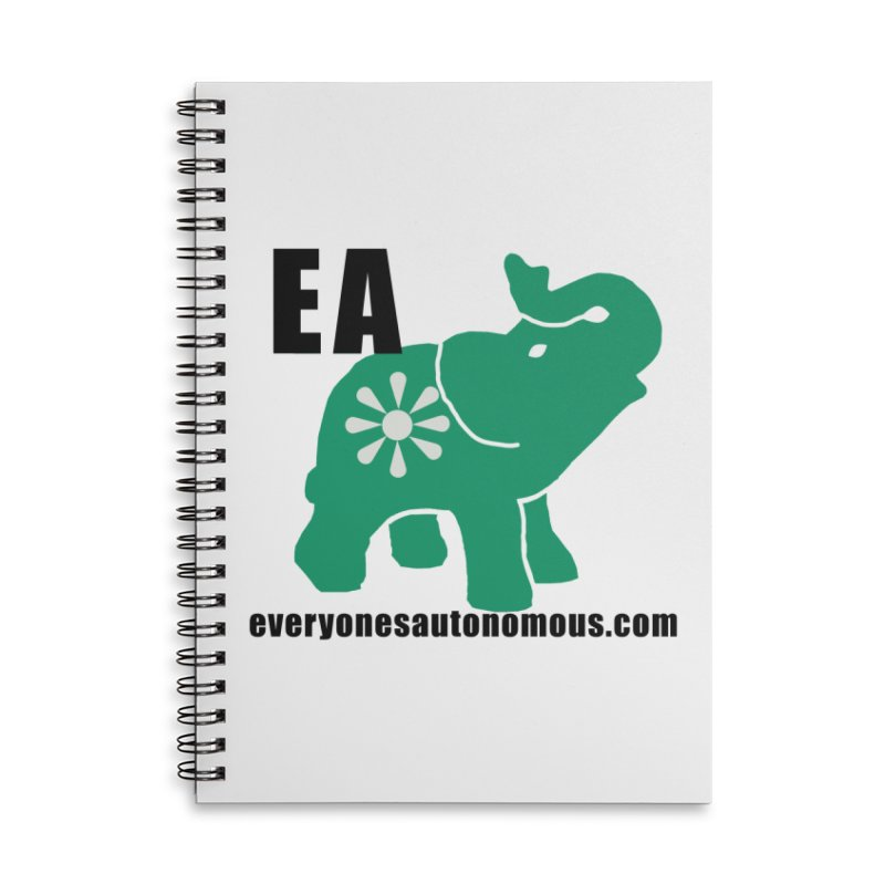 Elephant EA www Accessories Lined Spiral Notebook by everyonesautonomous's Artist Shop