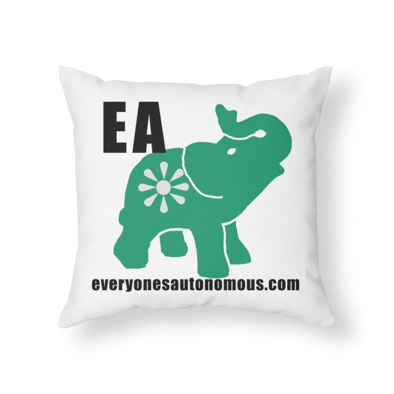 Elephant EA www Home Throw Pillow by Everyone's Autonomous' Artist Shop