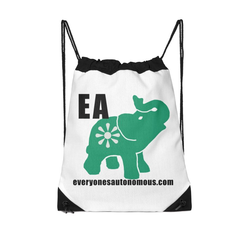 Elephant EA www Accessories Drawstring Bag Bag by everyonesautonomous's Artist Shop