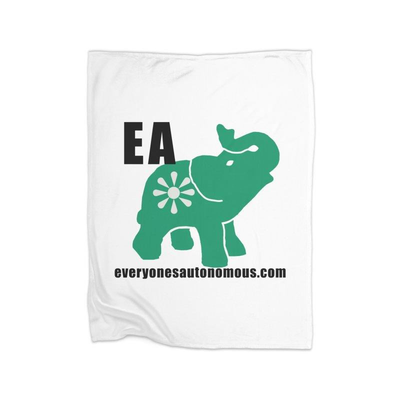 Elephant EA www Home Fleece Blanket Blanket by everyonesautonomous's Artist Shop