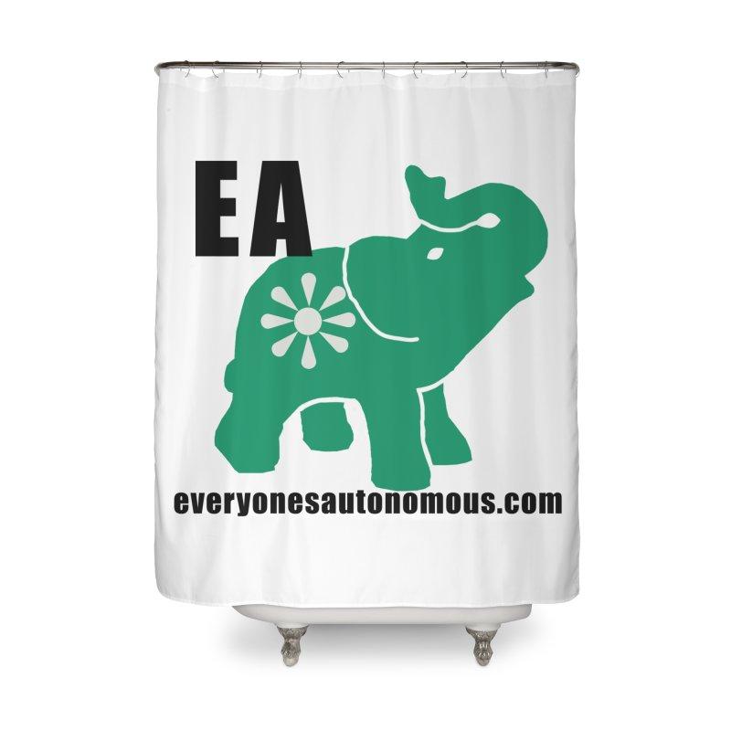 Elephant EA www Home Shower Curtain by everyonesautonomous's Artist Shop