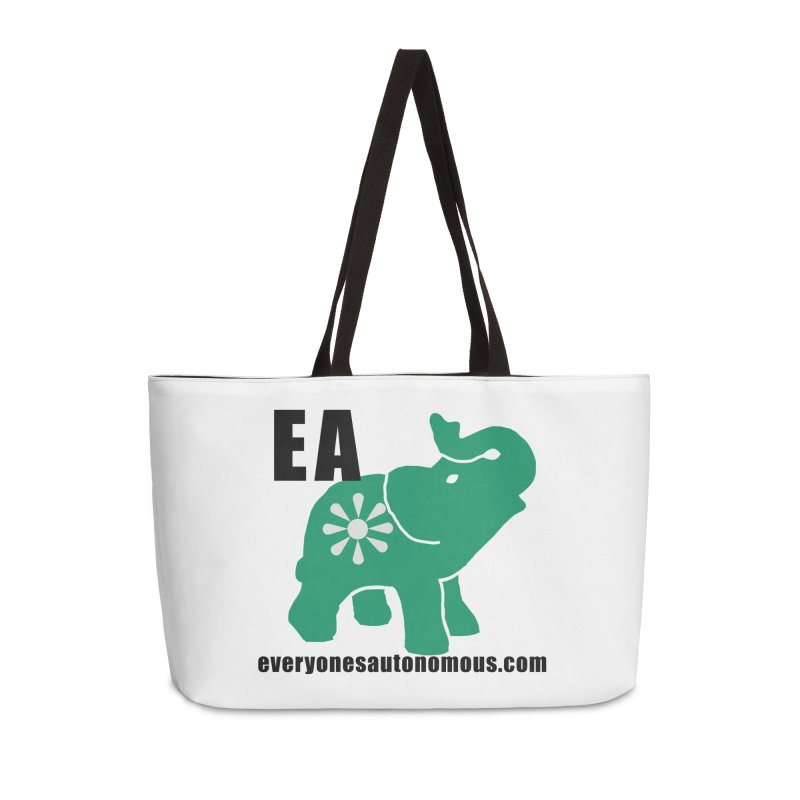 Elephant EA www Accessories Weekender Bag Bag by everyonesautonomous's Artist Shop