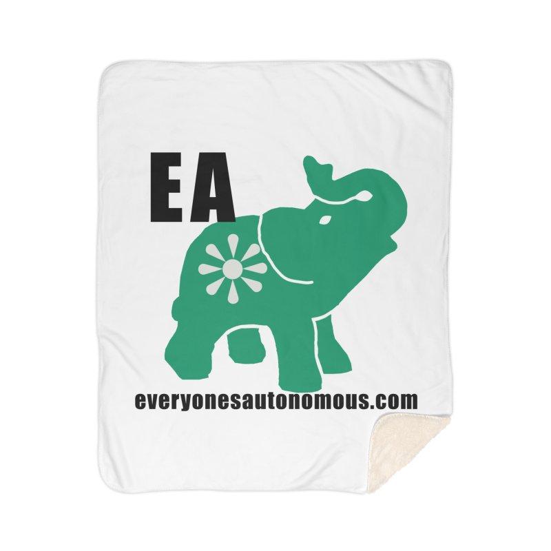 Elephant EA www Home Sherpa Blanket Blanket by everyonesautonomous's Artist Shop