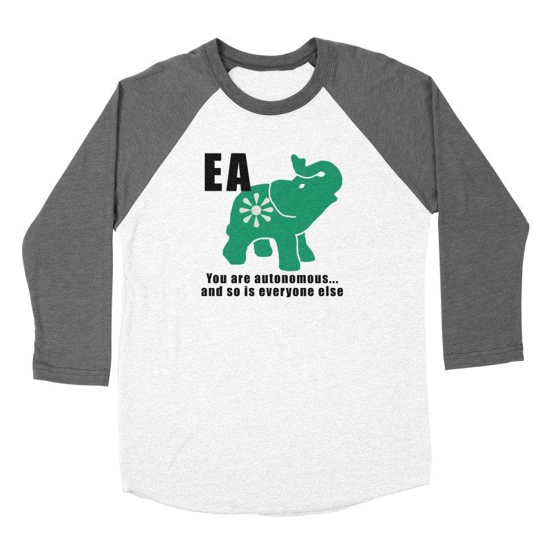 You Are Autonomous Men's Baseball Triblend Longsleeve T-Shirt by everyonesautonomous's Artist Shop
