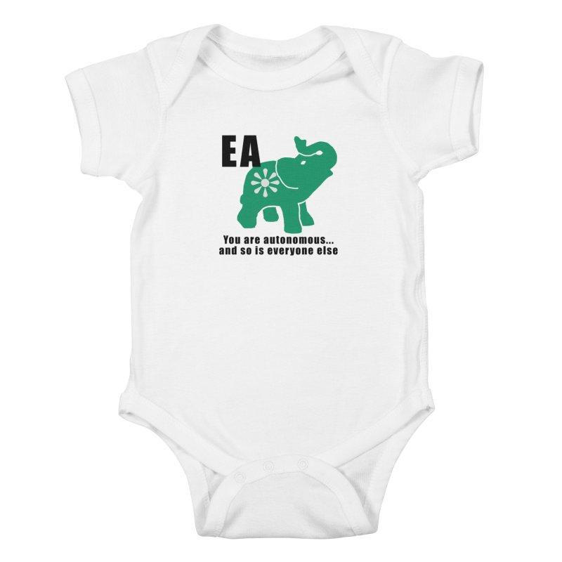 You Are Autonomous Kids Baby Bodysuit by everyonesautonomous's Artist Shop