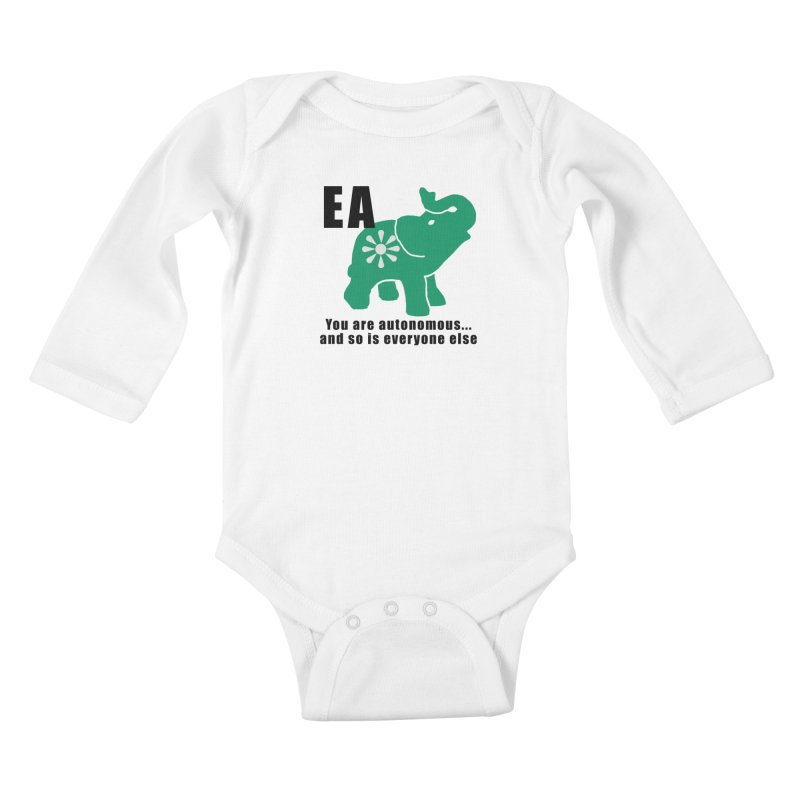 You Are Autonomous Kids Baby Longsleeve Bodysuit by everyonesautonomous's Artist Shop