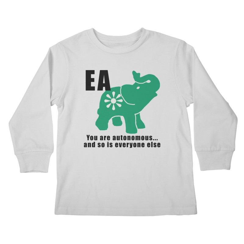 You Are Autonomous Kids Longsleeve T-Shirt by everyonesautonomous's Artist Shop