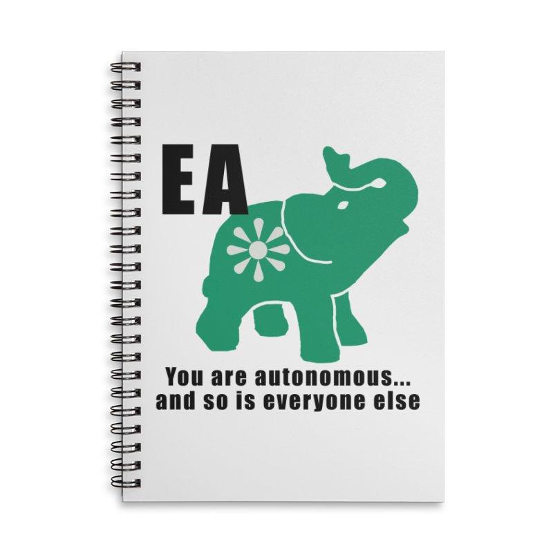 You Are Autonomous Accessories Notebook by Everyone's Autonomous' Artist Shop
