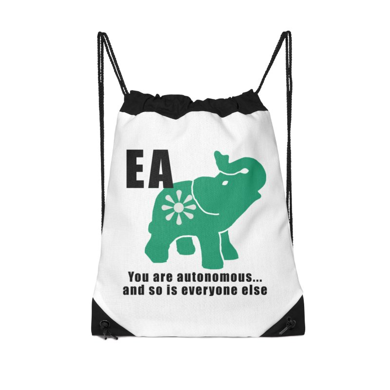 You Are Autonomous Accessories Drawstring Bag Bag by everyonesautonomous's Artist Shop