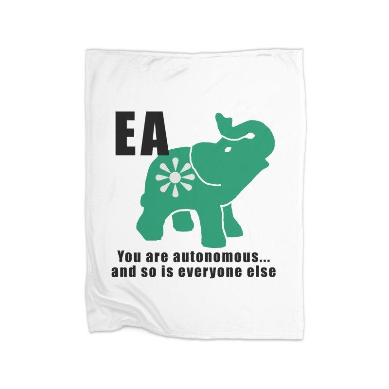 You Are Autonomous Home Fleece Blanket Blanket by everyonesautonomous's Artist Shop