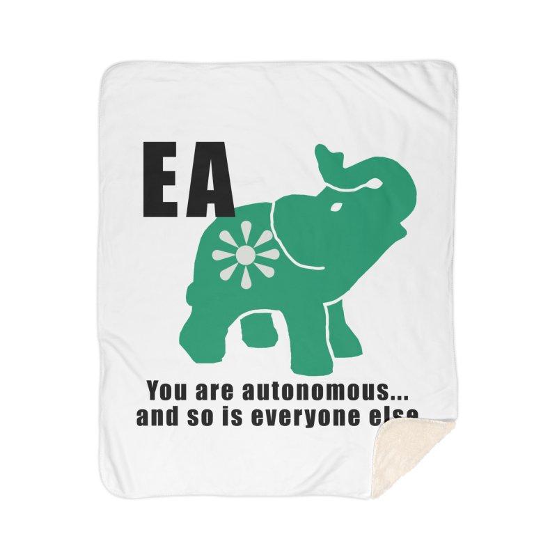 You Are Autonomous Home Sherpa Blanket Blanket by everyonesautonomous's Artist Shop