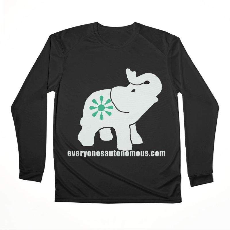 White Elephant with website Men's Longsleeve T-Shirt by Everyone's Autonomous' Artist Shop