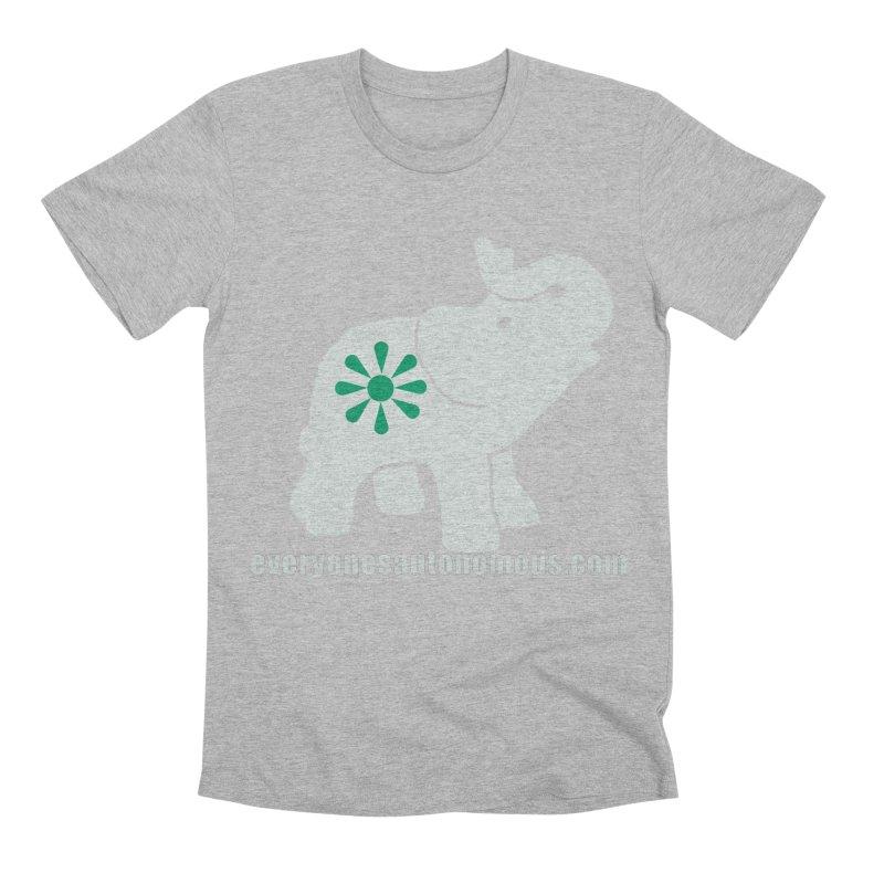 White Elephant with website Men's T-Shirt by Everyone's Autonomous' Artist Shop