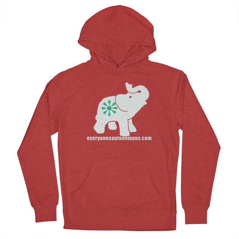 White Elephant with website Women's French Terry Pullover Hoody by everyonesautonomous's Artist Shop