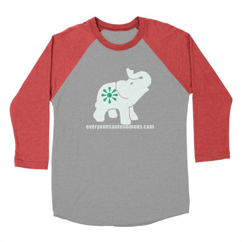 White Elephant with website Men's Baseball Triblend Longsleeve T-Shirt by everyonesautonomous's Artist Shop