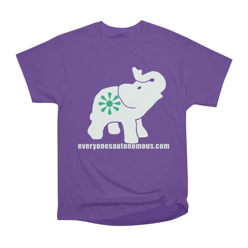 White Elephant with website Women's Heavyweight Unisex T-Shirt by everyonesautonomous's Artist Shop