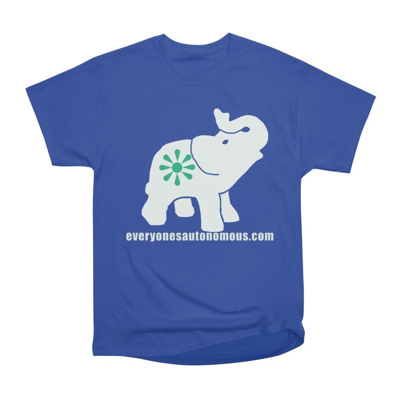 White Elephant with website Men's Heavyweight T-Shirt by everyonesautonomous's Artist Shop