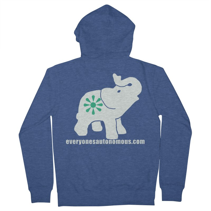 White Elephant with website Women's French Terry Zip-Up Hoody by everyonesautonomous's Artist Shop