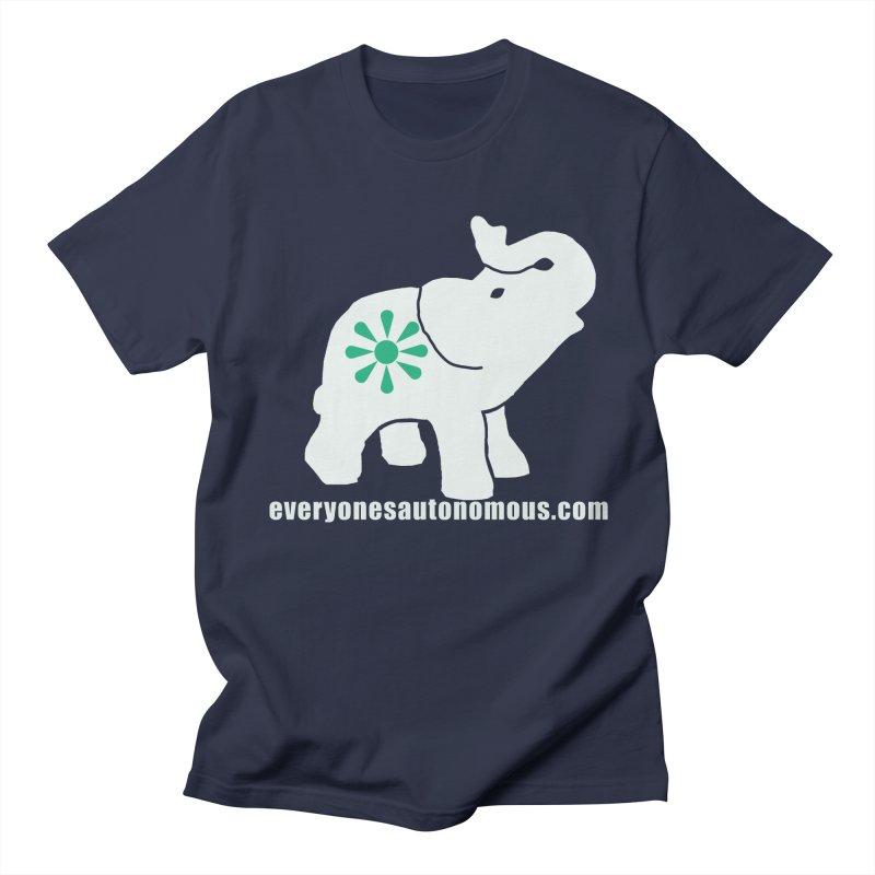 White Elephant with website Women's Regular Unisex T-Shirt by everyonesautonomous's Artist Shop