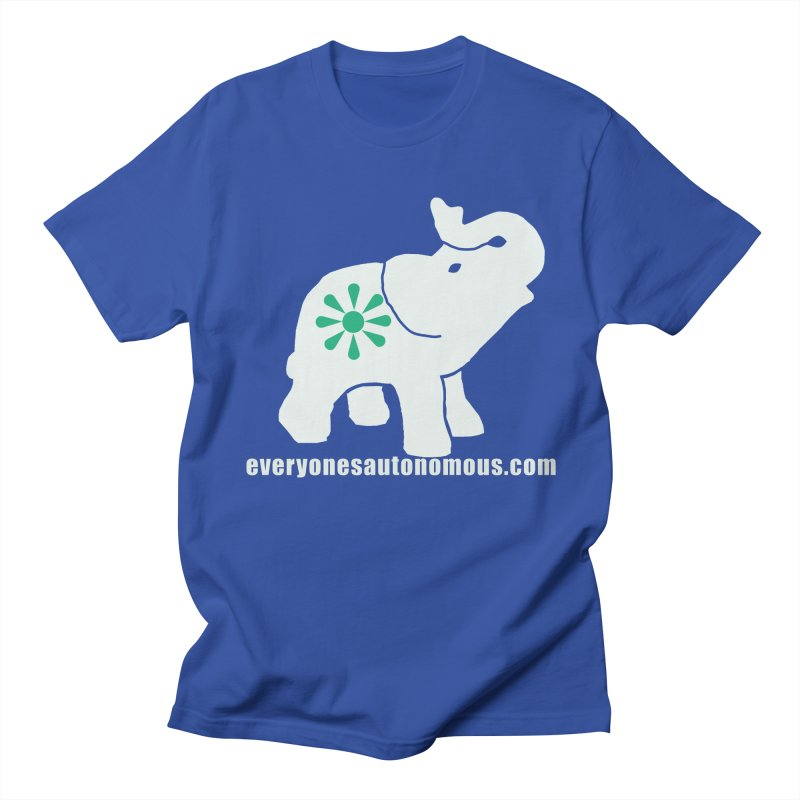 White Elephant with website Men's Regular T-Shirt by everyonesautonomous's Artist Shop