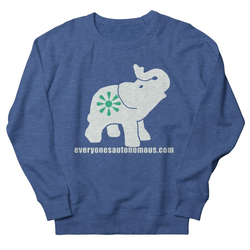 White Elephant with website Women's French Terry Sweatshirt by everyonesautonomous's Artist Shop