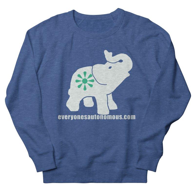 White Elephant with website Men's Sweatshirt by Everyone's Autonomous' Artist Shop