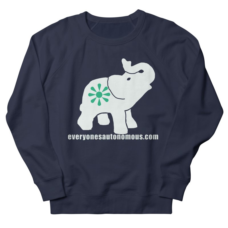 White Elephant with website Men's French Terry Sweatshirt by everyonesautonomous's Artist Shop