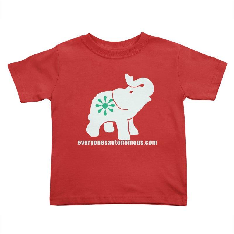 White Elephant with website Kids Toddler T-Shirt by everyonesautonomous's Artist Shop