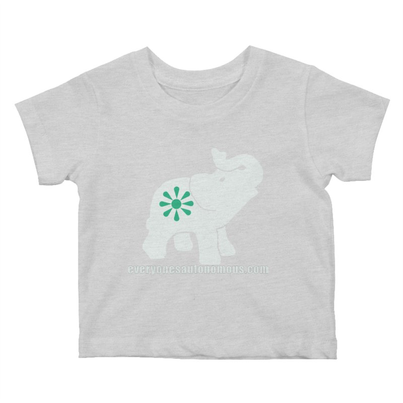 White Elephant with website Kids Baby T-Shirt by everyonesautonomous's Artist Shop