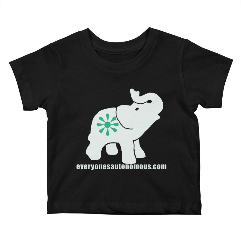 White Elephant with website Kids Baby T-Shirt by Everyone's Autonomous' Artist Shop