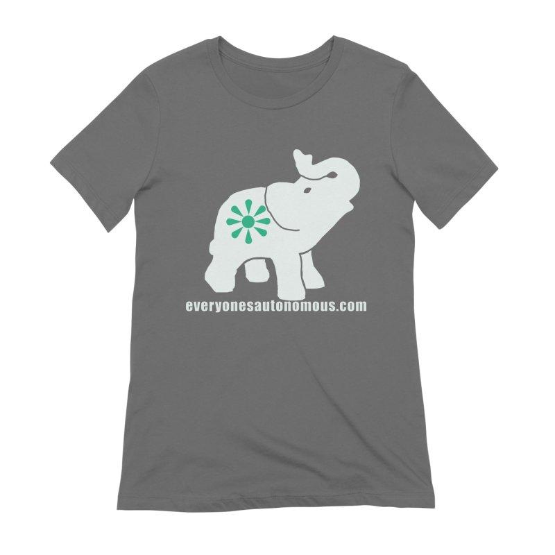 White Elephant with website Women's T-Shirt by Everyone's Autonomous' Artist Shop