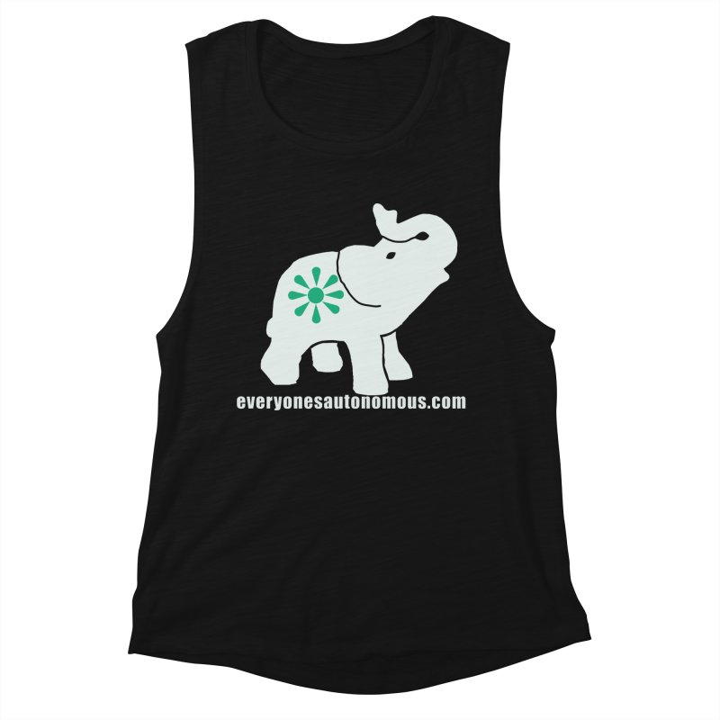 White Elephant with website Women's Tank by Everyone's Autonomous' Artist Shop