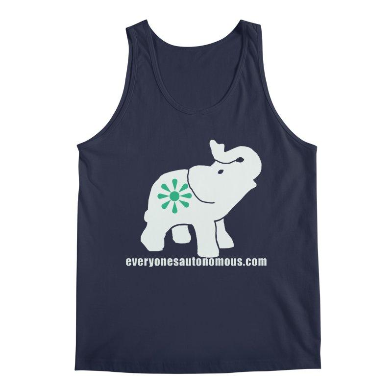 White Elephant with website Men's Regular Tank by everyonesautonomous's Artist Shop