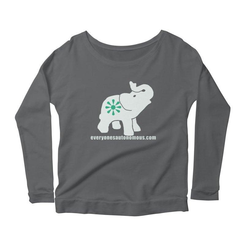 White Elephant with website Women's Longsleeve T-Shirt by Everyone's Autonomous' Artist Shop