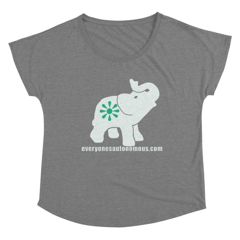 White Elephant with website Women's Dolman Scoop Neck by everyonesautonomous's Artist Shop